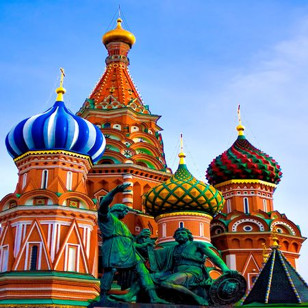 St. Basil's Cathedral on Red square, Moscow, Russia Stock Photo - 5357651
