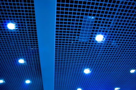 modern blue ceiling in the office Stock Photo - 5357649