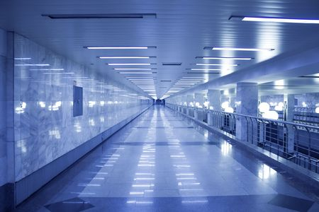 modern hall inside metro station photo