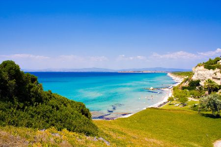 Beautiful sea coast in Greece photo