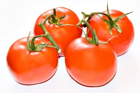 fresh red tomatoes photo