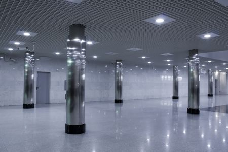 retail place: empty business hall in shopping mall