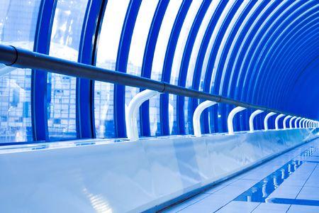 fragment of futuristic corridor in airport Stock Photo - 5423612