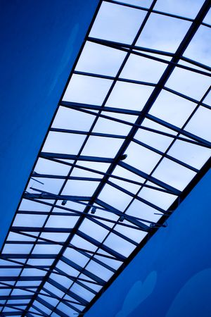 modern blue ceiling in the office Stock Photo - 5498186