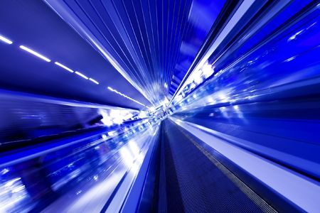 fast moving escalator in motion Stock Photo - 5528691