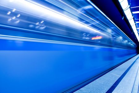 fast moving train in motion Stock Photo - 5528695