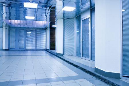 modern hall inside office centre photo