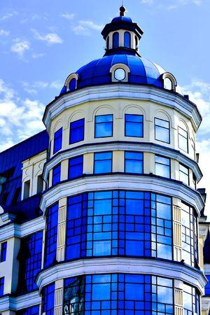 facade of modern bank building over blue sky Stock Photo - 5618791