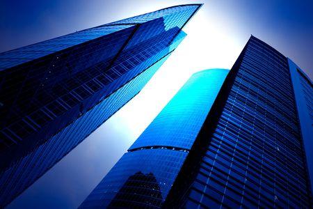 futuristic skyscrapers of downtown photo