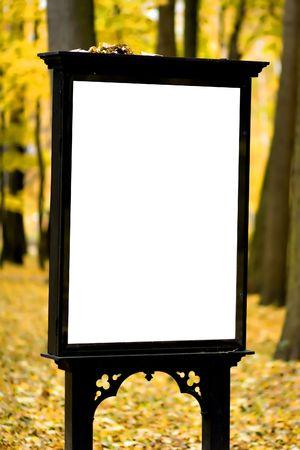 billboard in autumn park Stock Photo - 5769575