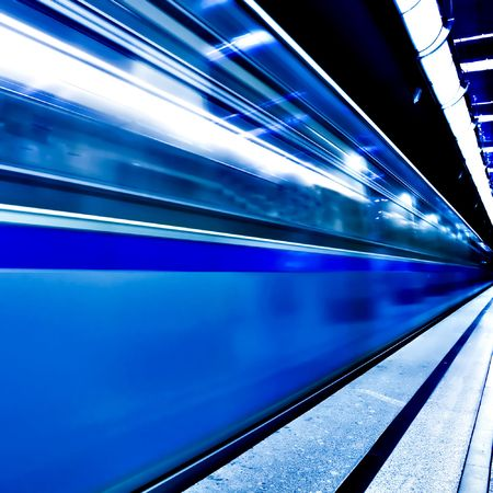 fast moving train by motion Stock Photo - 5933232