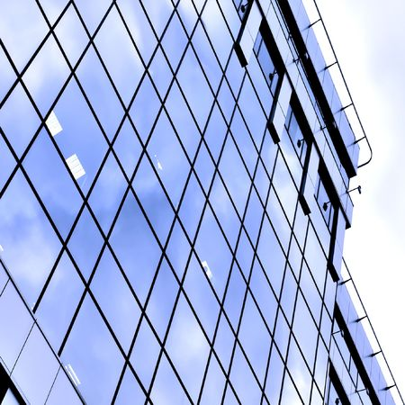 glass side of business center photo