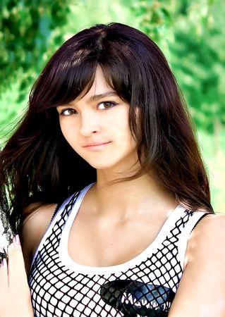 young teen girl nude: darling girl Stock Photo