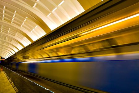 fast moving train by motion Stock Photo - 6442258
