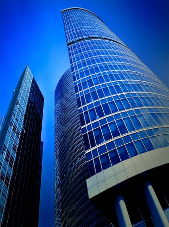 facade of modern building with reflection of blue sky Stock Photo - 6960250