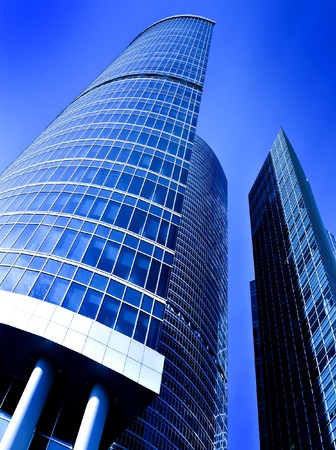 facade of modern building with reflection of blue sky Stock Photo - 6960270