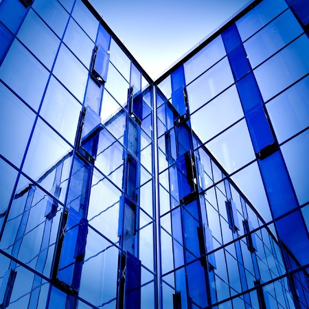 abstract glass side of business building photo