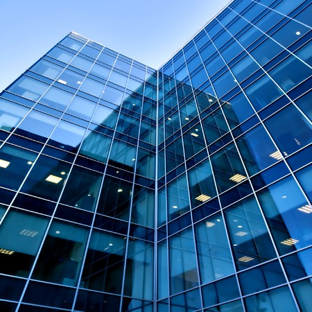 high rise building: Modern building with reflections
