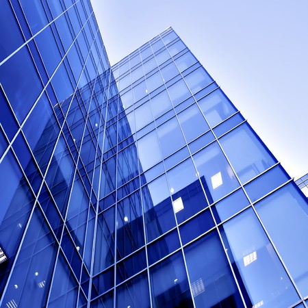 commercial real estate: modern glass business center