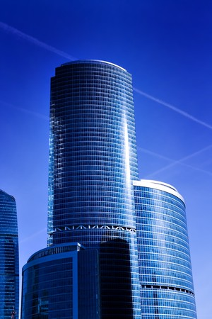 modern geometric skyscrapers Stock Photo - 6960433