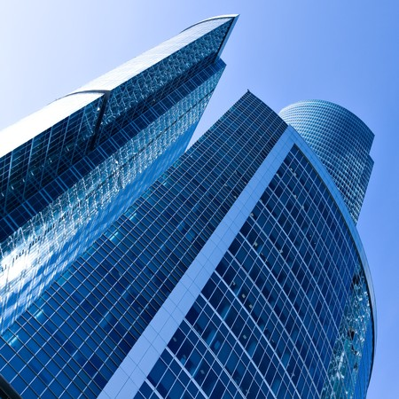 facade of modern building with reflection of blue sky Stock Photo - 6960615