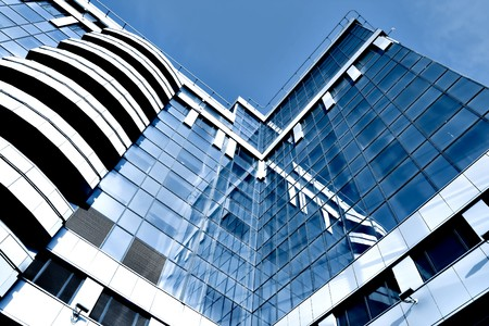 Modern Glass Businesscenter Standard-Bild - 6960396