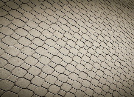 pave stones of sidewalk  photo