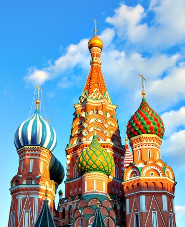 Cathedral of Vasily the Blessed in Moscow Stock Photo - 7066901
