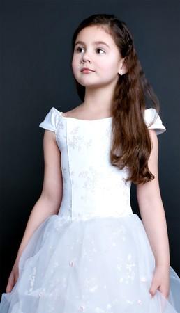pretty little girl dreaming photo