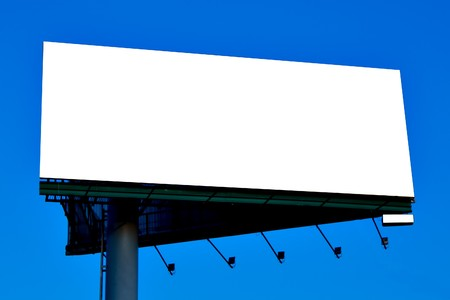 Blank big billboard over blue sky, put your text Stock Photo - 7118081