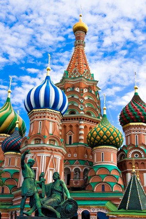 moscow churches: St. Basils Cathedral on Red square, Moscow, Russia Stock Photo