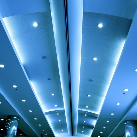 modern blue ceiling in the office photo