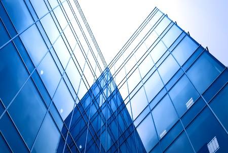 Latérales en verre abstraite de bâtiment d'affaires Banque d'images - 7242152