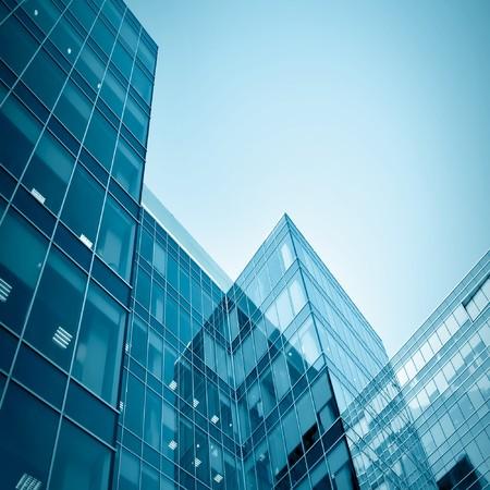 Modernes Businesscenter in der Nacht Standard-Bild - 7242114