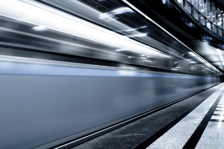 fast moving train by motion Stock Photo - 7242087
