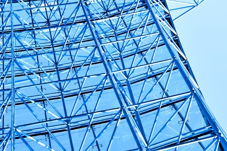 blue glass roof photo