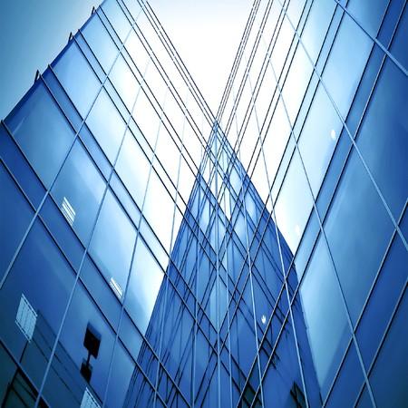 Glas-Silhouetten der Wolkenkratzer in der Nacht  Standard-Bild - 7415067