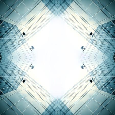 Blau Business moderne Gebäude Standard-Bild - 7426373