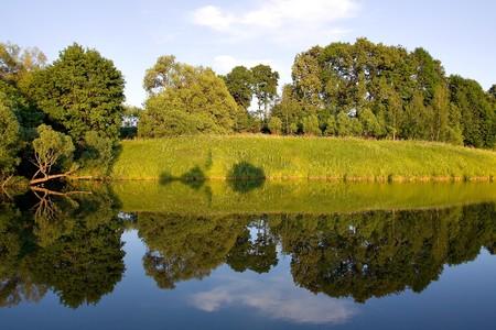 symmetric reflection in lake Stock Photo - 7426382