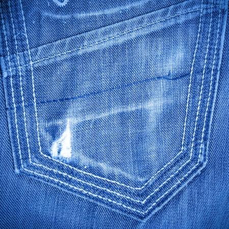 shabby jeans pocket with tear photo