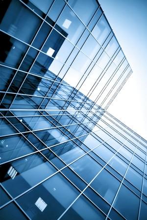 Glas-Wolkenkratzer in der Nacht Standard-Bild - 7415583