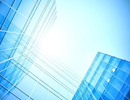 modern glass skyscraper perspective view Stock Photo - 7627058