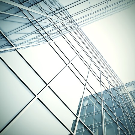 modern glass skyscraper perspective view Stock Photo - 7626947