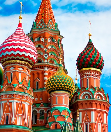 vasily: Cathedral of Vasily the Blessed in Moscow Stock Photo