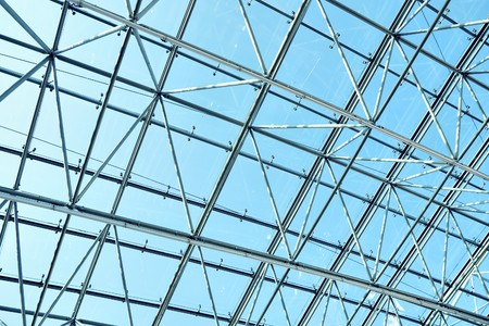 blue glass ceiling Stock Photo - 7891689
