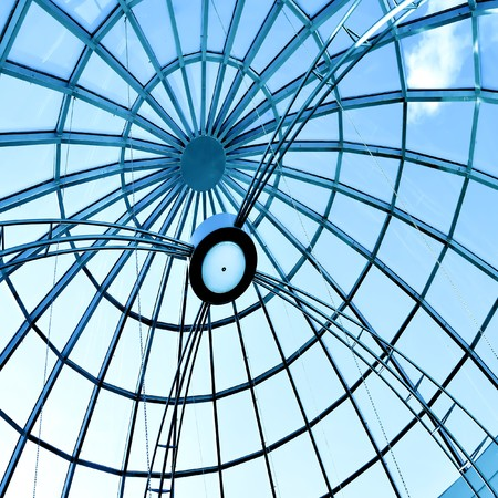 glass ceiling: limpid round ceiling