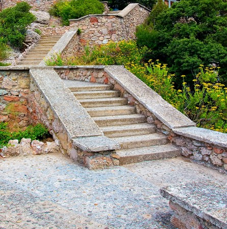stone stair in mountains photo