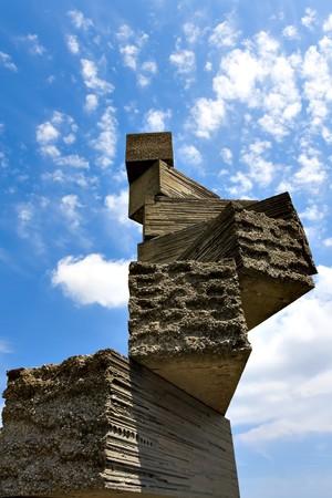 bizarre stone construction in Spain photo