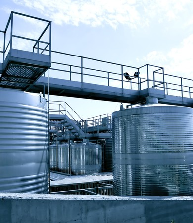 Stainless steel reservoirs for wine Stock Photo - 7891629