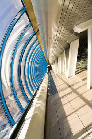 futuristic corridor in airport Stock Photo - 7891653